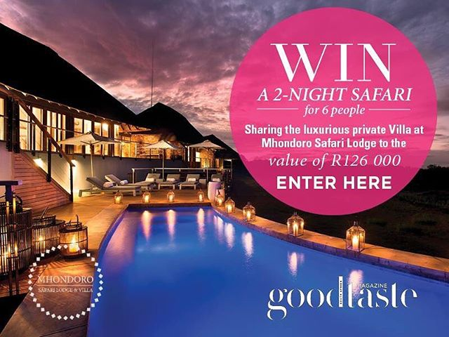 Stand the chance to #WIN a 2-nigh Safari Getaway for 6 people sharing the luxurious private Villa at @mhondorosafarilodgeandvilla to the VALUE OF R126 000! 🌿 To enter simply: 1. Share this post with #GTwins #MhondoroSafariLodge and tag us! 2. Tag 3 friends in the comment section 3. Click here and fill in your details: bit.ly/2nzfznu (link in bio) 〰️ Please note terms and conditions apply. #win #giveaway #competition #GTwins #safari #mhondorosafarilodgeandvilla #travel #traveling #adventure #luxury #luxurytravel #exclusivegiveaway #goodtastemagsa
