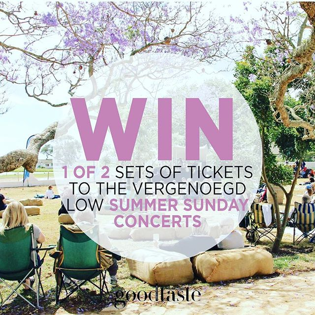 Stand the chance to WIN 1 of 2 sets of tickets to the @vergenoegd_wine_estate Summer Sunday Concerts! Simply click here and fill in your details to enter: bit.ly/2q7tp1z (link in bio)  Please note terms and conditions apply.