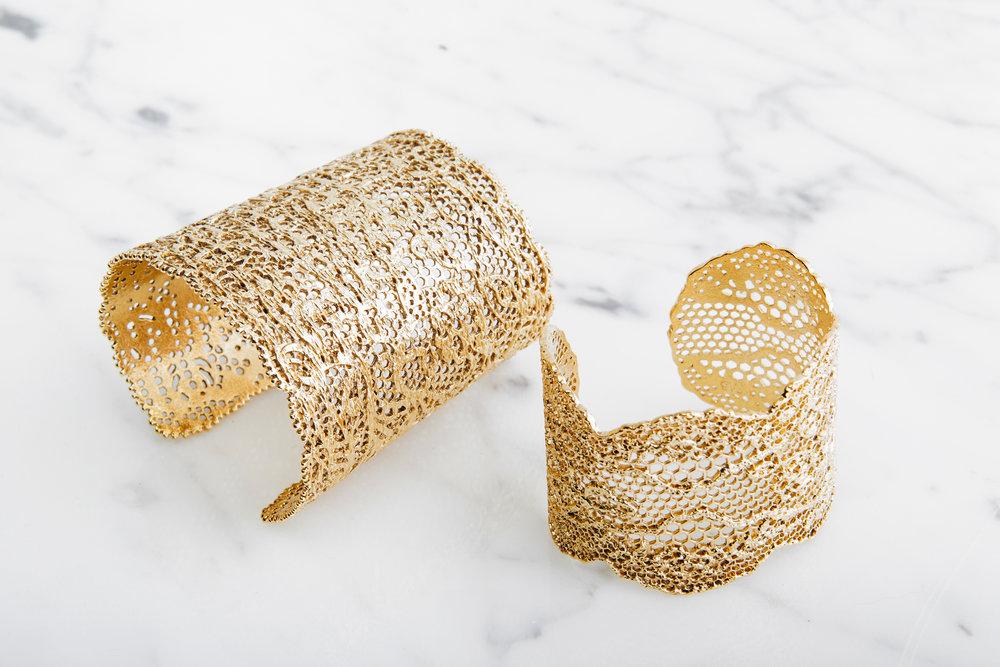 AUrelie Bidermann Lace Cuffs