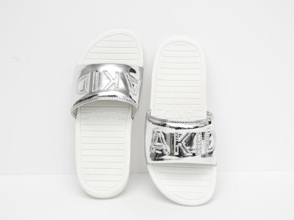Akid aston silver slip ons