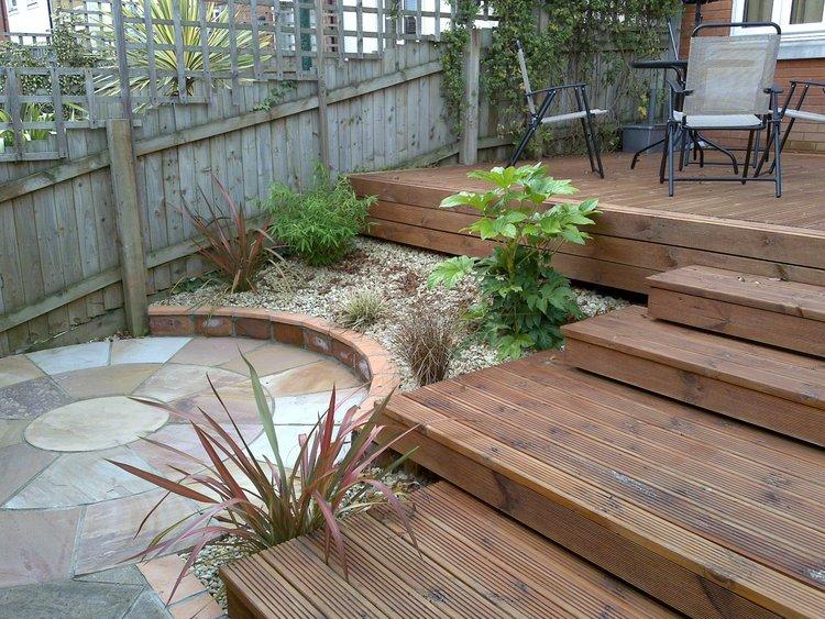 Small Garden with Decking Adrian Stoute