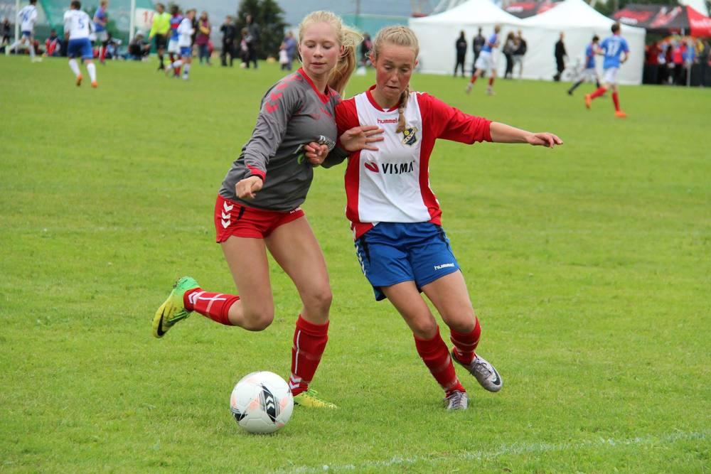 Hedda Foslie scoret ett av målene mot Kolbotn. Her fra en NC kamp sist sommer.