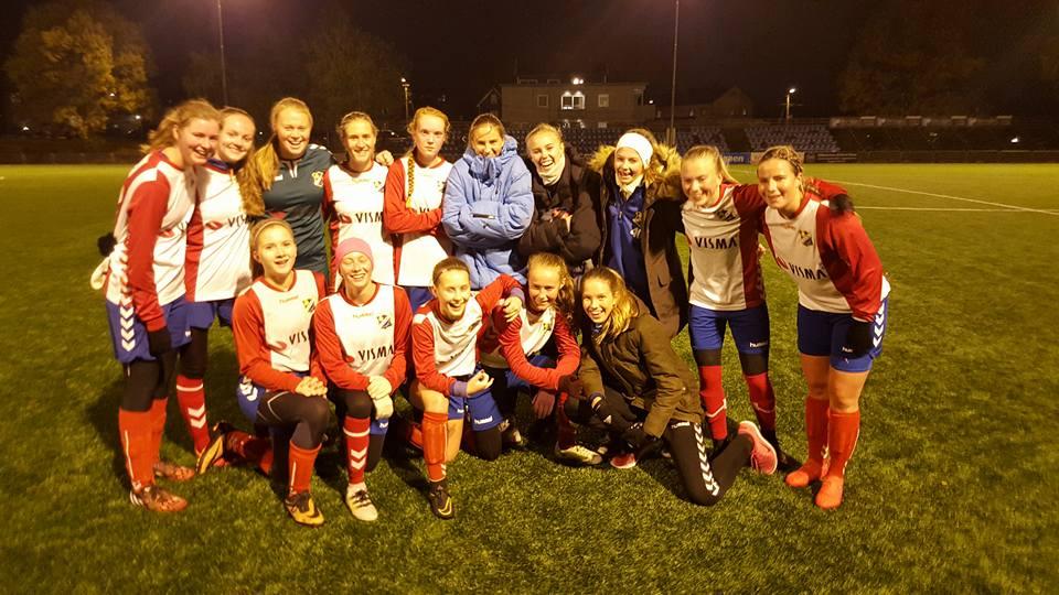 J19-jentene etter 10-0 seieren over Kjelsås
