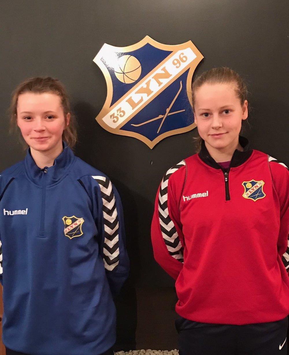 F.v: Thea Sørbo og Selma Pettersen er klar for Lyn og Statoil Landsdelssamling!