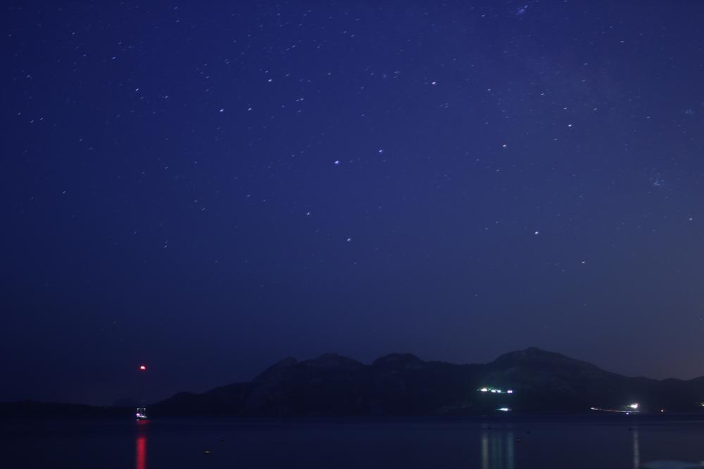Long Exposure Photograph of Stars