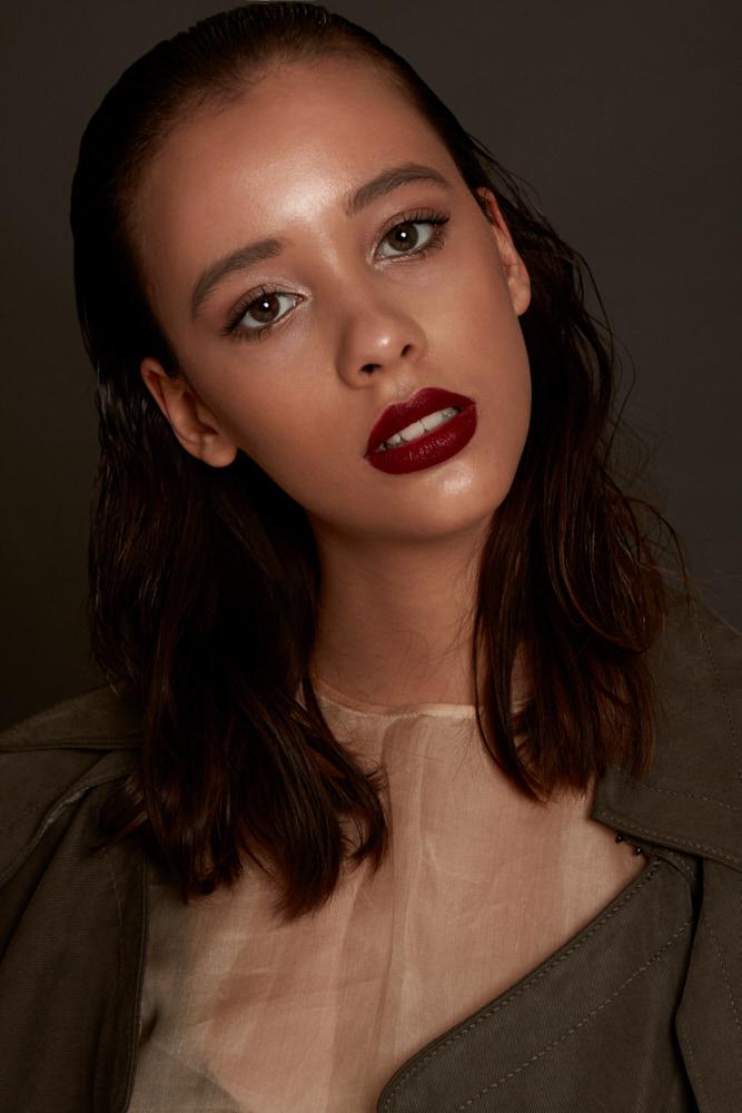 model JADE S. (DULCEDO) makeup KIM ABECASSIS hair ESTEBAN NAULT styling JENNIFER M BEL