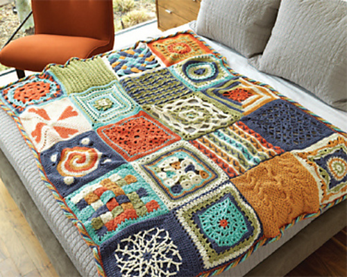 Chain Reaction Crochet Afghan Squarees The Perfect Blend Yarn