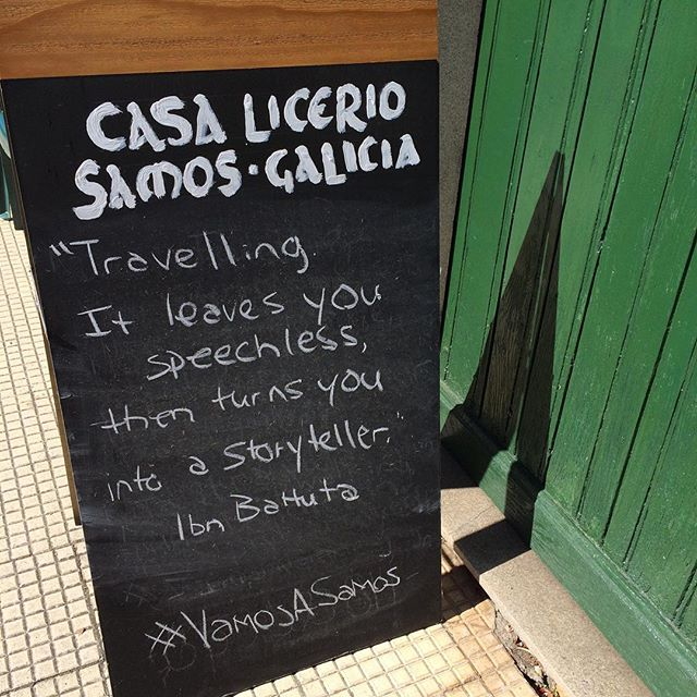 Casa Licerio's #QuoteOfTheDay #VamosASamos #BuenCamino #CaminoDeSantiago This one's for you @reweaves28 😘💃🏼 When are you and my broseph coming to visit?