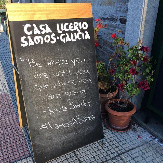 Casa Licerio's #quoteoftheday #buencamino #caminodesantiago #vamosasamos