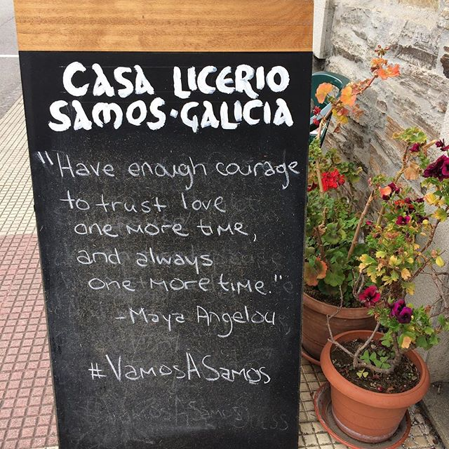Casa Licerio's #quoteoftheday Courtesy of @caitieac #buencamino #caminodesantiago #vamosasamos