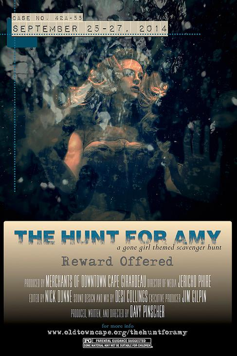 The Hunt for Amy   movie-poster-style promotional design created by  Jericho Phire  of  jerichoPHIRE Design .
