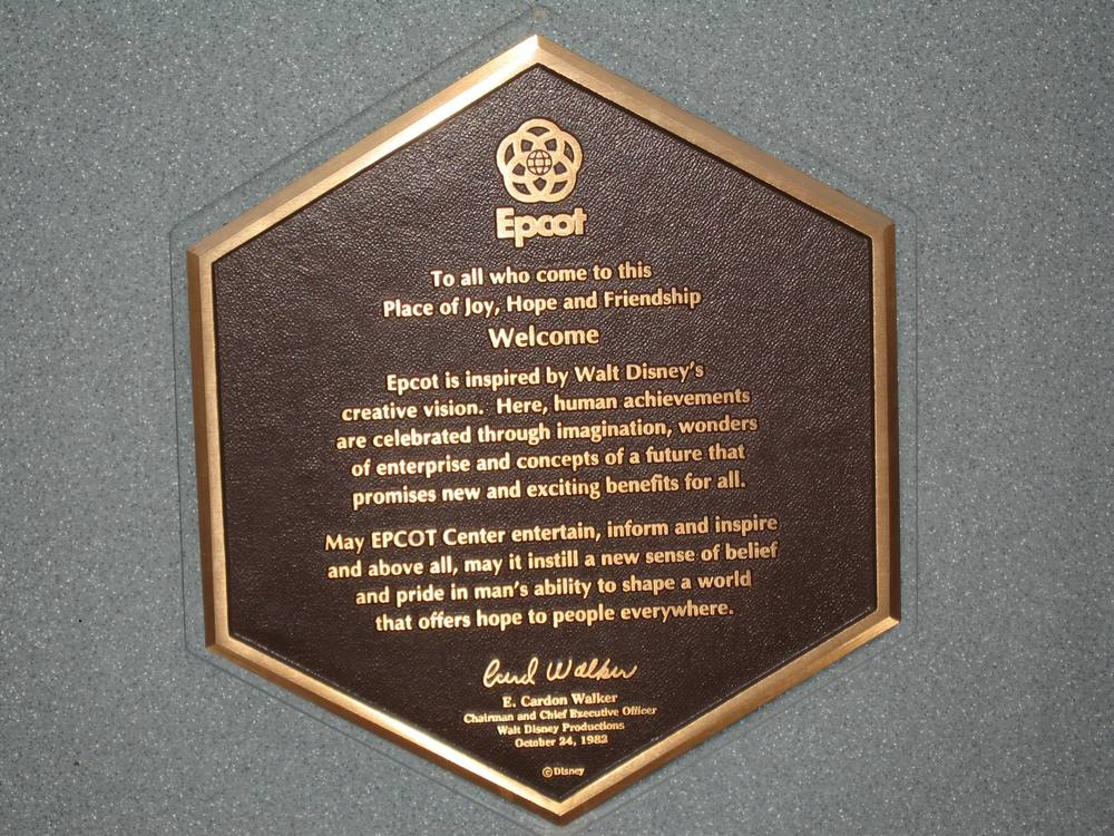 The Dedication Plaque