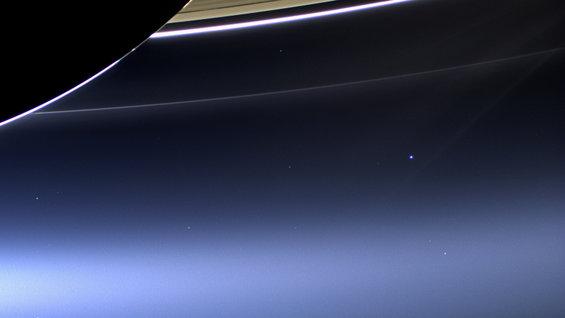 Updated Pale Blue Dot taken by Cassini in 2013