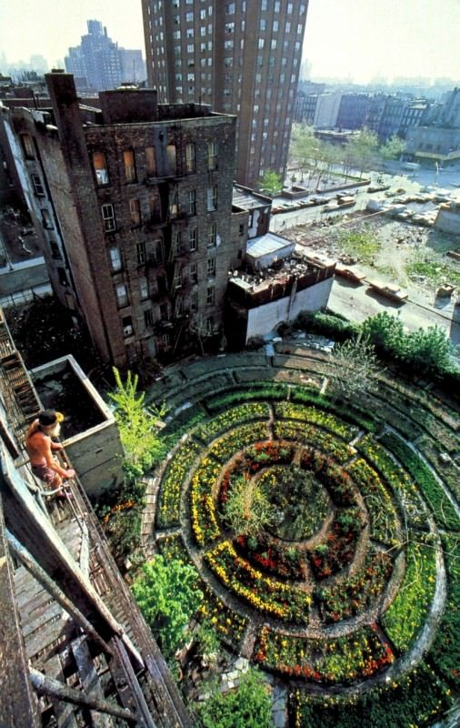 Urban gardening both on a large scale