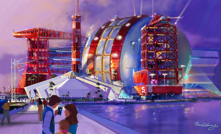 Concept art for the original Space pavilion