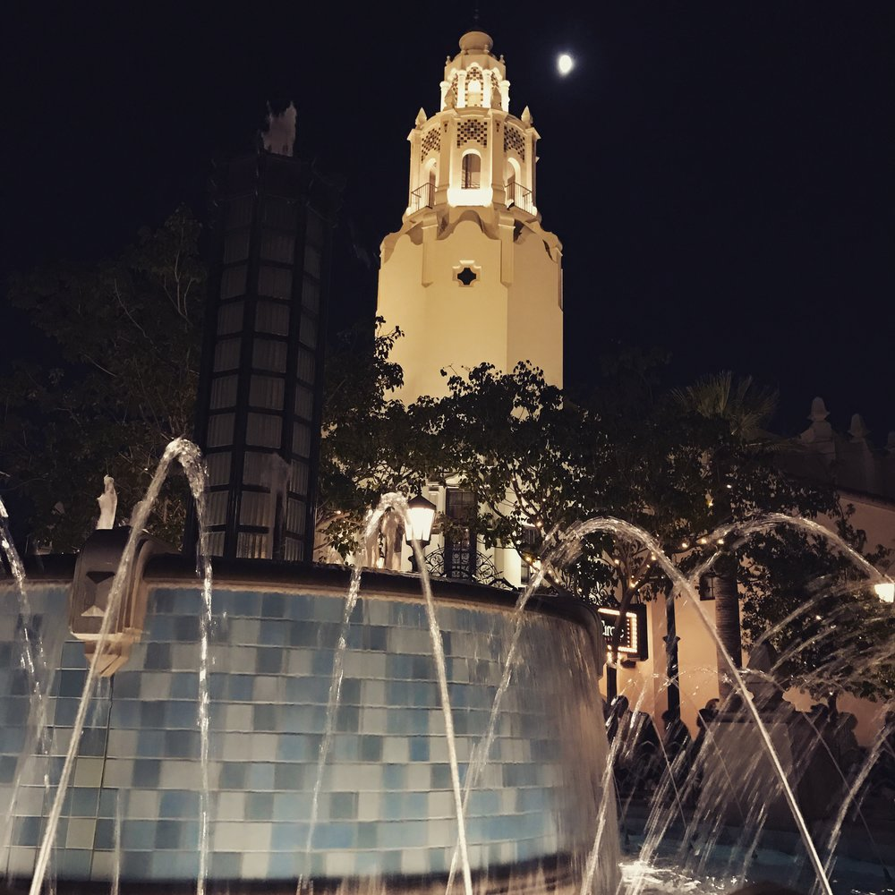 Carthay Theater in the moonlight