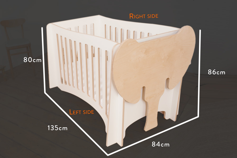 Jumbo - The cot / measurements