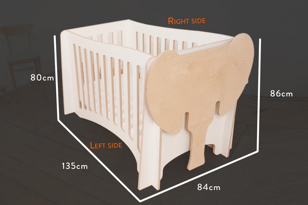 Jumbo - The cot /measurements