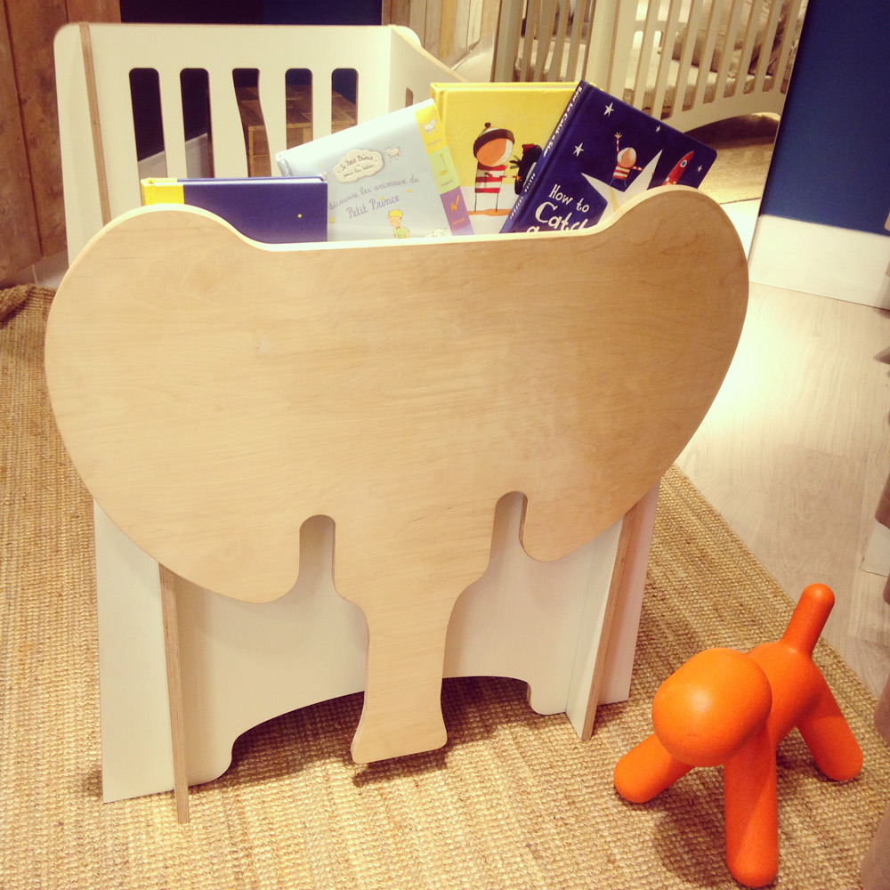 Jumbo, the cot's book shelf