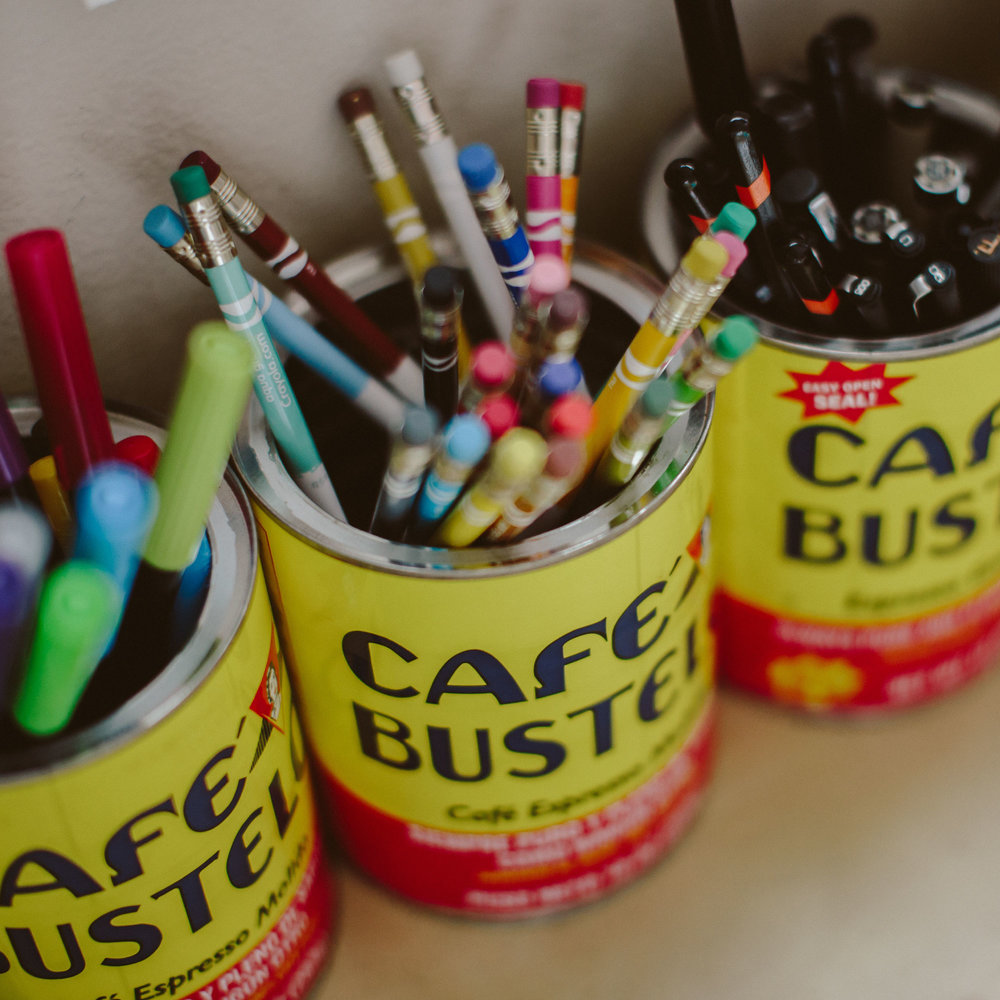 I drink Cafe Bustelo espresso like it's regular coffee and I save the cans to organize my art supplies.