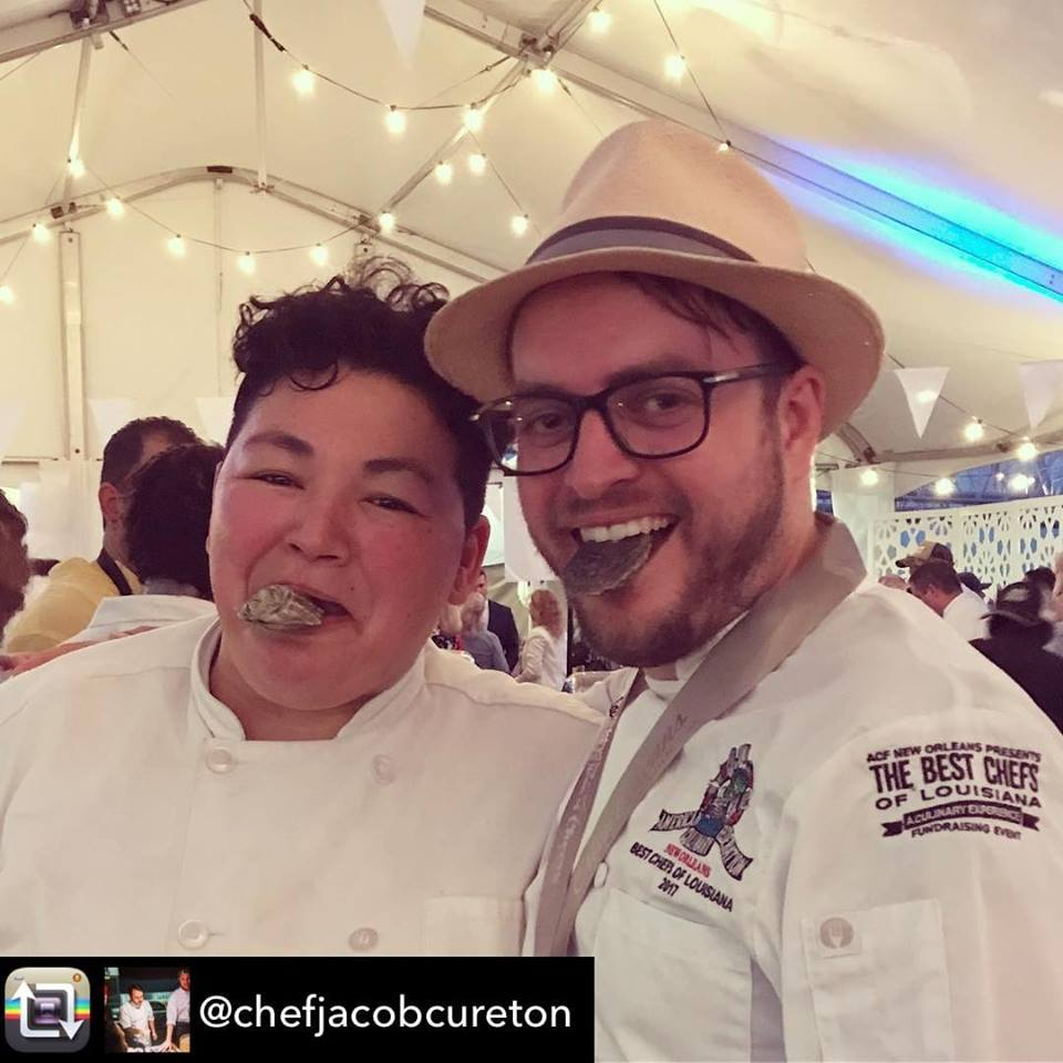 @chefjacobcureton using @RepostRegramApp - Love those  #butterbabies @murderpointoysterco the best oysters in the world. @almanola @chefmelissaaraujo @nowfe #nowfe2017  thanks Melissa for the leftover oysters. @tpweiss9953 will be very happy
