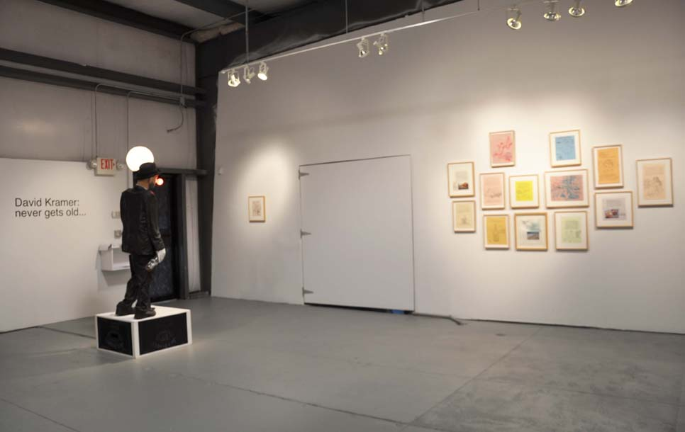 Installation shot of David Kramer's Age Old Story at Fiendish Plots.