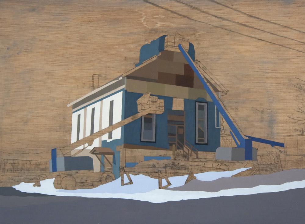 David Linneweh,  Refurbished Landscape, Vermont ,oil on panel, 2008