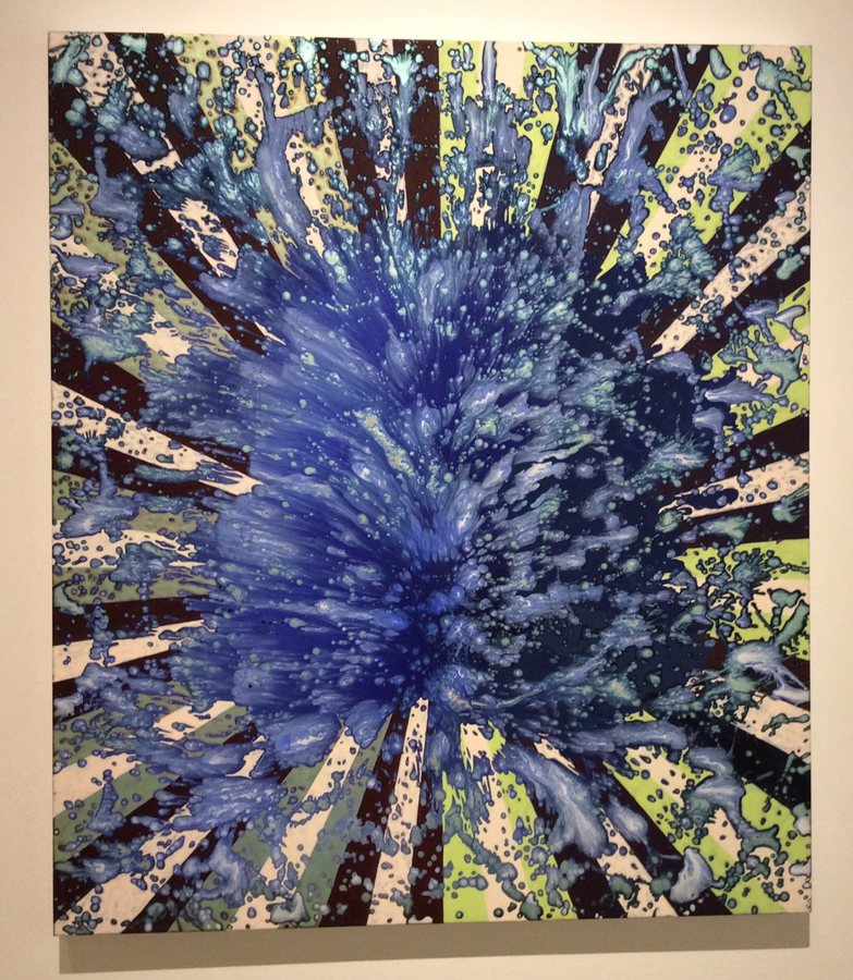 Barabara Takenaga,  Blue Splash , acrylic on linen (2013), Courtesy of the artist and DC Moore Gallery, New York