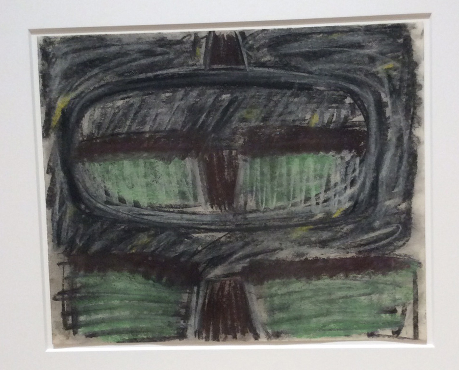 Robert Bardo,  Drawing (after Rear View) , chalk and charcoal on paper, (2014), Courtesy of the artist