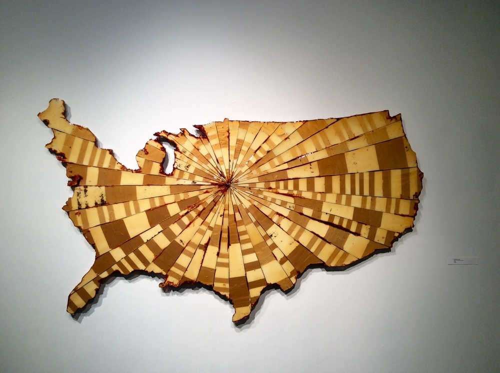 Not My Country, Wall sculpture, Resin and paint on panel, 2016