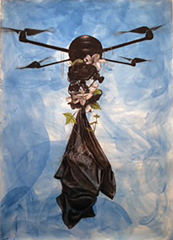 "Robert Pruitt, ""Archangel,"" 2015, mixed media on paper"