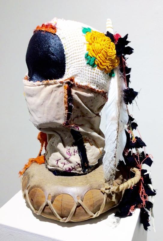 Sarah Rowe, Headpiece, 2015, mixed media