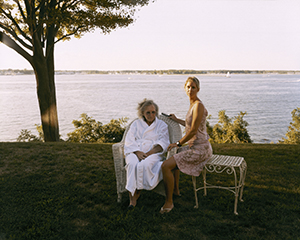 Virginia Beahan, Christina Brushing Gram's Hair, 2005, chromogenic development print, 18 ½ x 23 ½ inches. Courtesy of the artist.