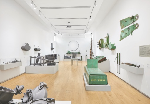 David Brooks: Continuous Service Altered Daily, 2016 Erosion and Flood zone (left) (installation view detail), 2016 Water Purification zone (right) (installation view detail), 2016 Courtesy of the artist Photo: Courtesy of Tom Powel Imaging