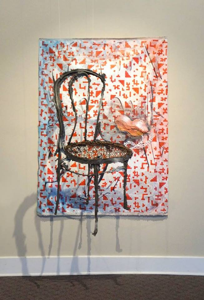 Eleanor Aldrich, Lips Phone and Chair, 2016