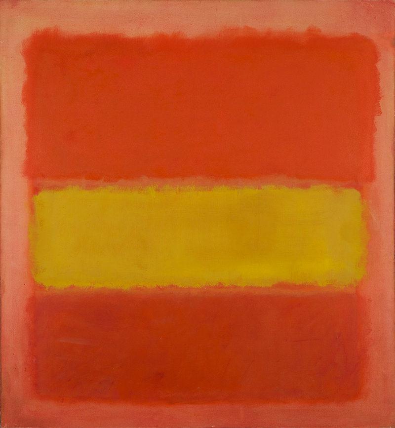 Mark Rothko,Yellow Band,Oil on canvas, 1956