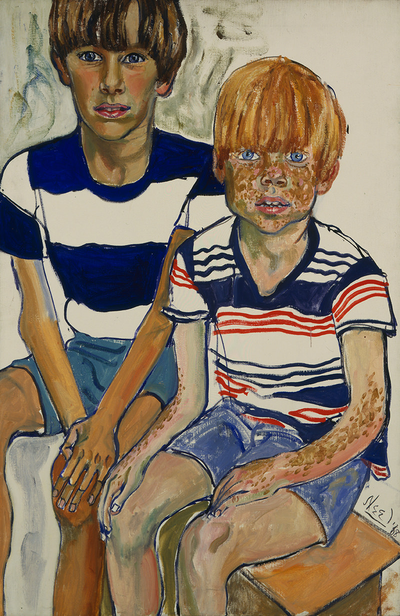Alice Neel, John and Joey Priestly, Oil on canvas, 1968