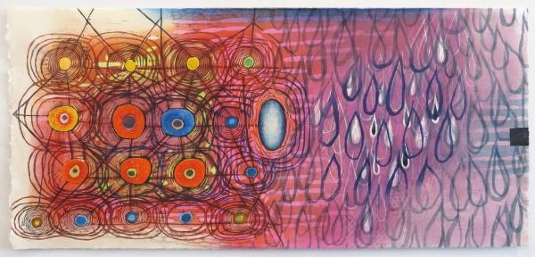 "Karen Kunc,In Transience, 2017, woodcut, 14"" x 29"""