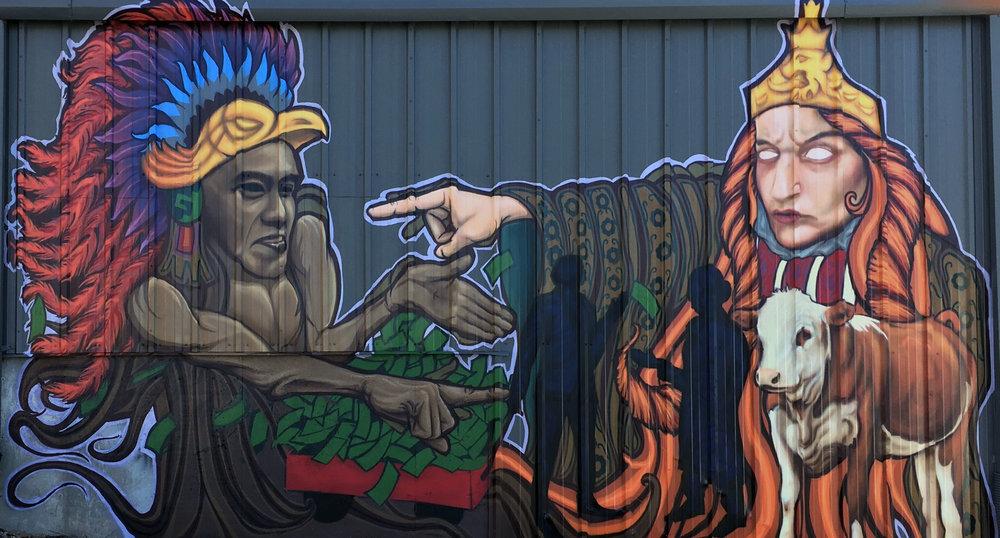 Hugo Zamorano, 13th and Williams, 2017, spray paint, photo courtesy of the Artist
