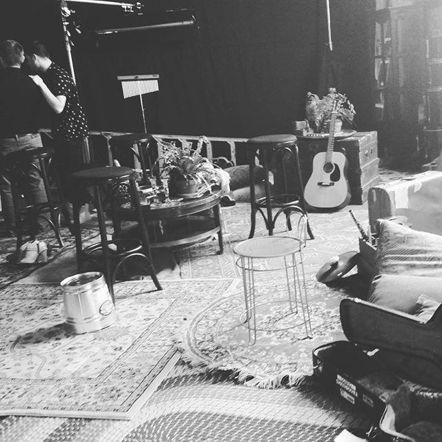 "On set for Christina Grimmie's music video ""Shrug"""