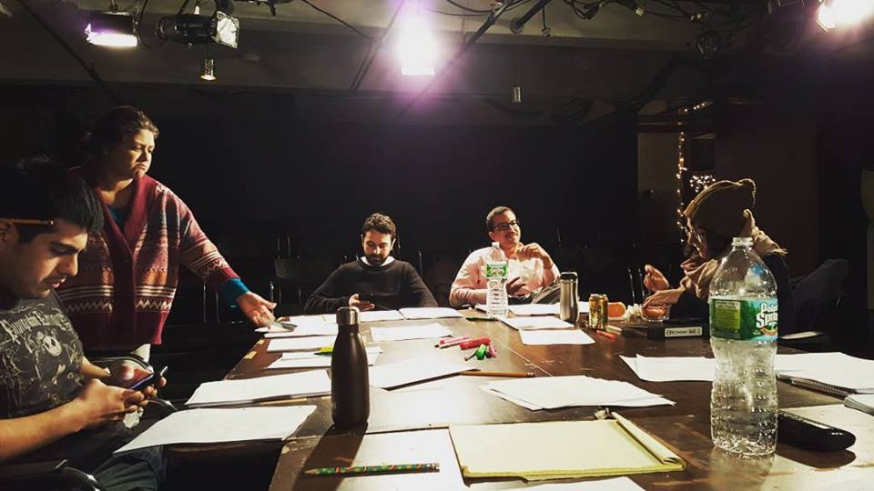 """First table read for """"Through Andrews Eyes"""" - Reading @ INTAR Theare 2016"""