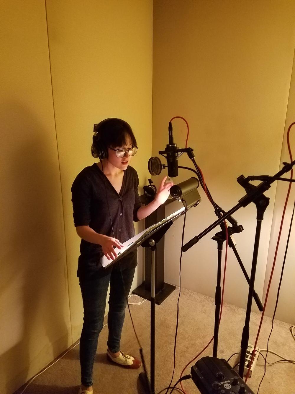 Recording  radio spot for Subway