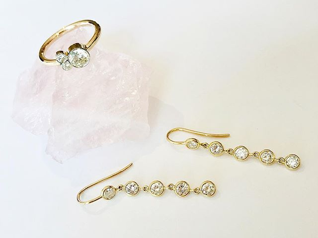 I love recreating something new from something sentimental 💕💎 #marissaalperinstudio #diamonds #customdesign #handmadejewelry #diamondearrings #diamondring #wearablejewelry #love #shopsmall