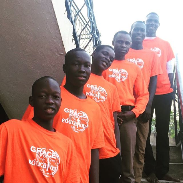 We are so blessed to have Darius, Deo, Pius, Patrick, John and Henry in Grace for Education.  Please continue to pray as they continue to grow in Christ and their educational areas. #graceforeducation #loveugandalife🇺🇬