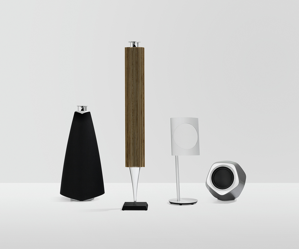 bang and olufsen immaculate wireless sound range - photograph courtesy of B&O