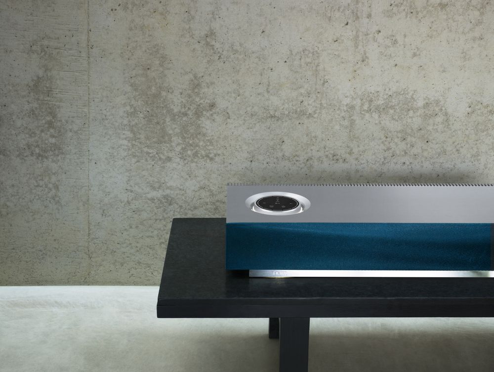 NAIM MU-SO WITH blue GRILL - PHOTOGRAPH COURTESY OF NAIM AUDIO