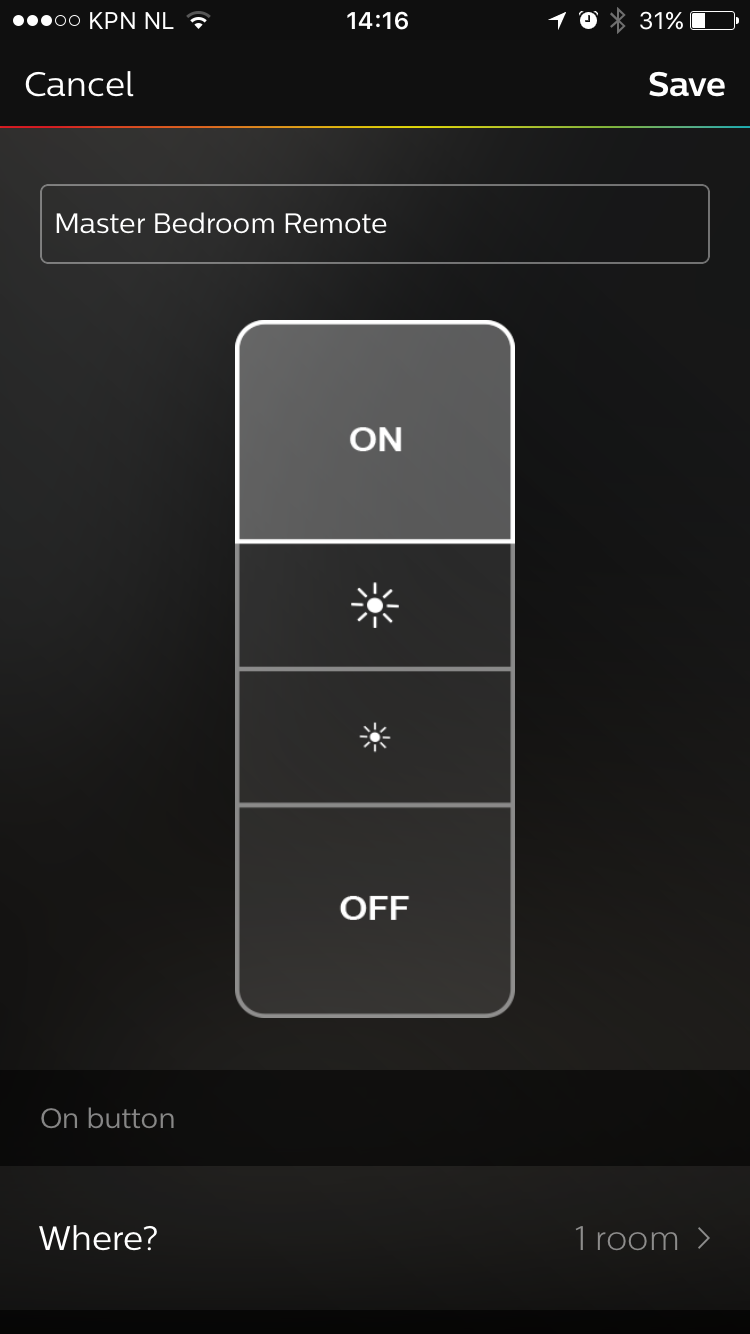 Dimmer Switch configuration