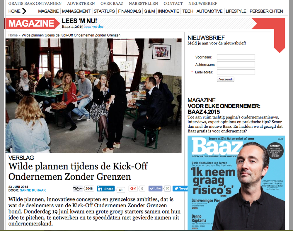 ProPortion won the Audience Awards of the Ondernemen Zonder Grenzen Competition (entrepreurs without Borders). Read the full article of the Baak here