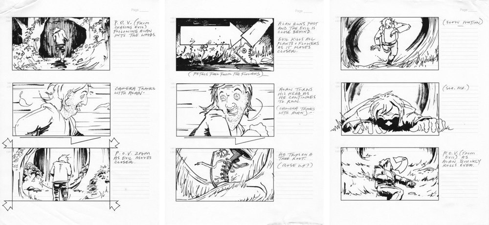Storyboards for the comedy horror  Undead (by Nick Ralph)