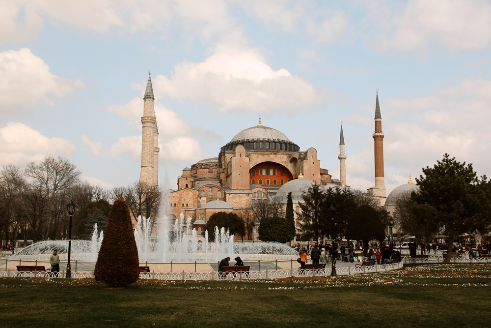 The Blue Mosque, also known as the Hagia Sofia.